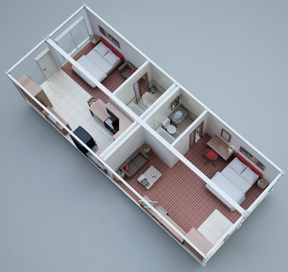 Hotel Model A Blocks Modular