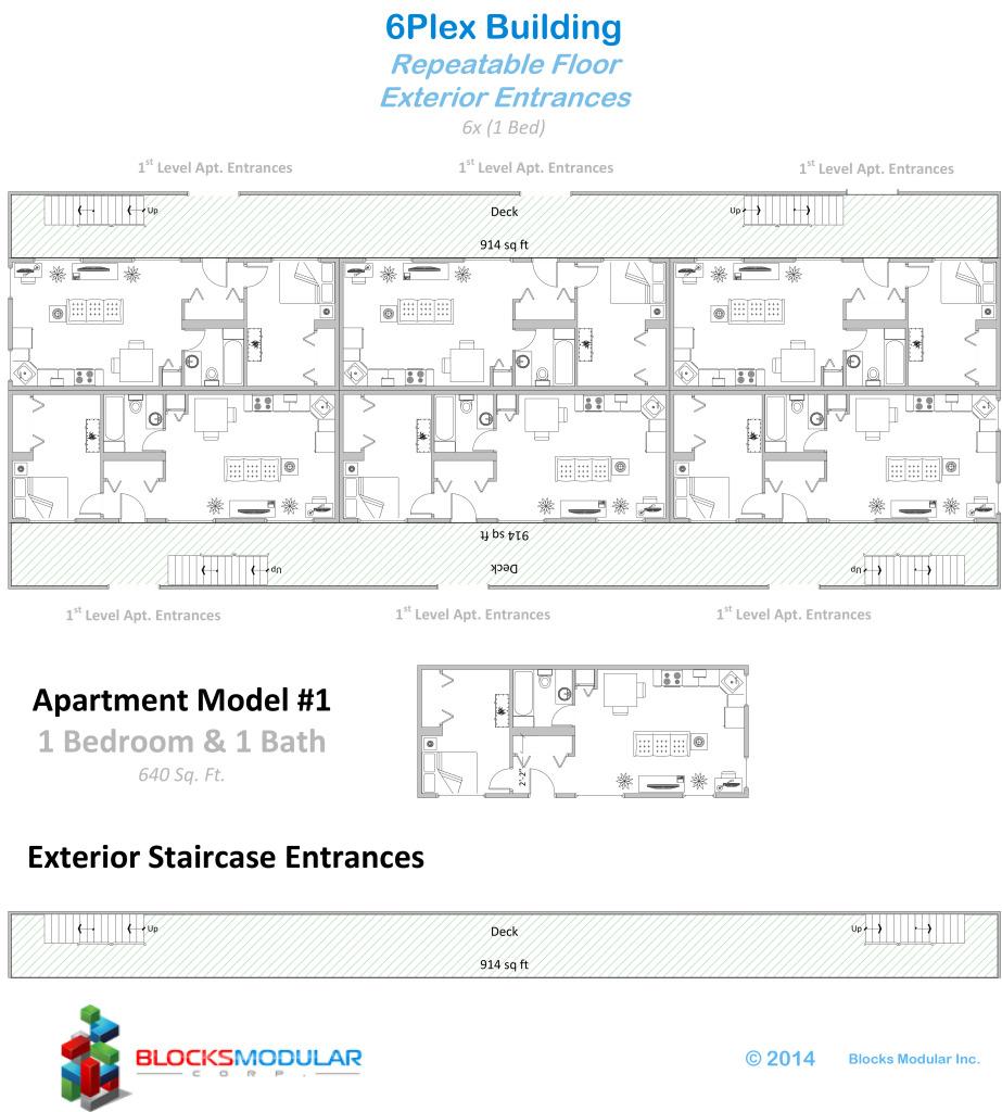Multifamily-6 to 18plex-exterior ent
